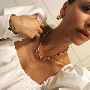 Vintage Gold tone Chain Necklace